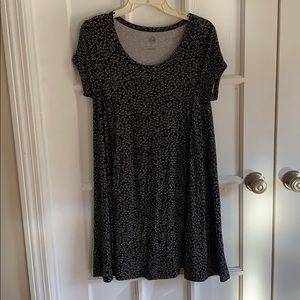 Black and white swing dress